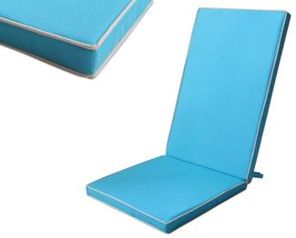 Imagen de Cojín Silla Exterior Liso Color Azul Océano 123x48x4cm
