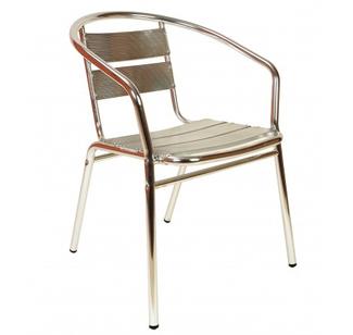Imagen de Silla Aluminio Galvanizado Apilable Miró HSM166
