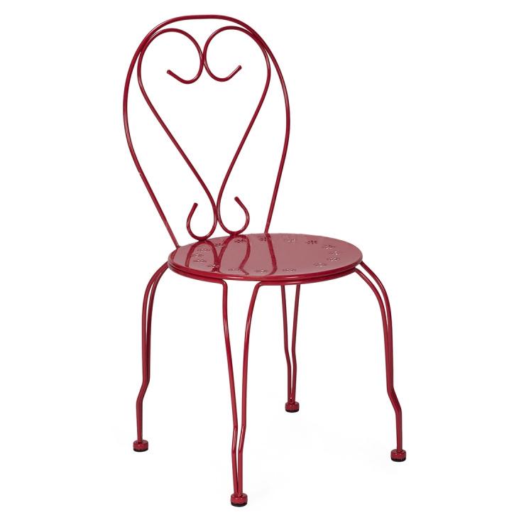 silla cuore de dise o en hierro 49 x 42 x 89 cent metros