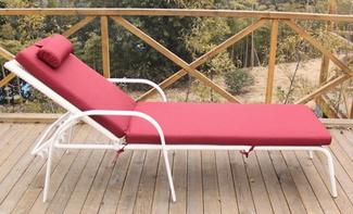 Imagen de Tumbona Cala en Aluminio y Rattán Blanco 194 x 30 x 66 cm